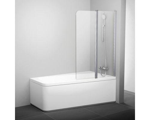 Шторка для ванны Ravak 10CVS2-100 L сатин+транспарент
