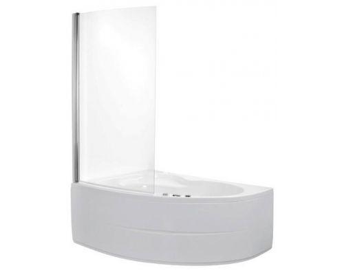 Шторка для ванны Poolspa Fen 80x153 хром+транспарент