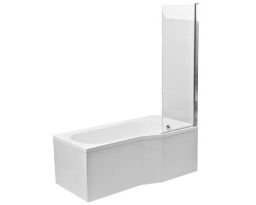Шторка для ванны Poolspa Fiord 60x153 хром+транспарент
