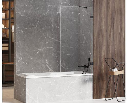 Шторка на ванну New Trendy AVEXA BLACK 100x150 (var 1)