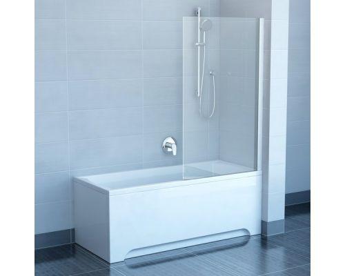 Шторка для ванны Ravak PVS1-80 хром+транспарент