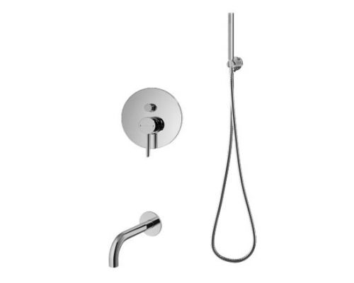 Душевая система Omnires Y SYSYW01CR для ванны, скрытого монтажа, хром