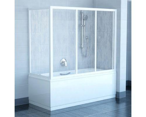 Боковая шторка для ванны Ravak APSV-75 белый+рейн