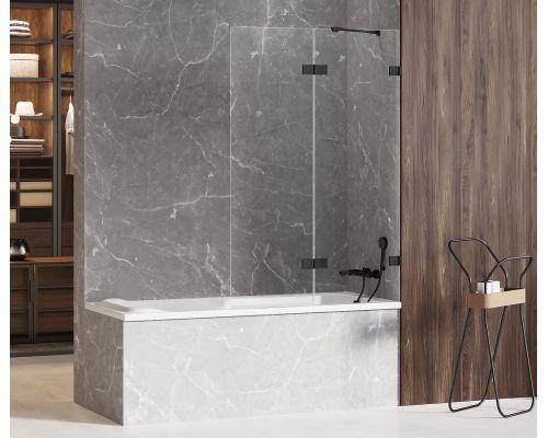 Шторка на ванну New Trendy AVEXA BLACK L 100x150