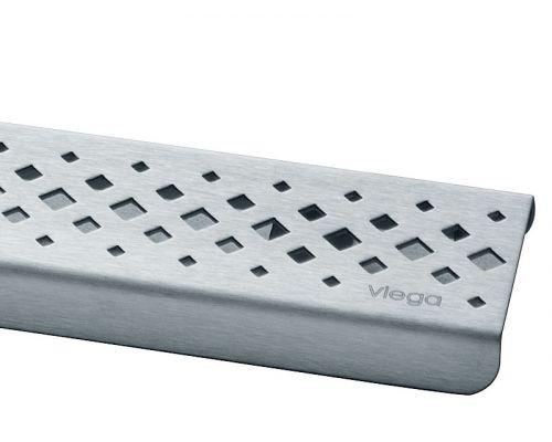 Дизайн-решетка Viega 571566 ER1, глянцевая, 120 см