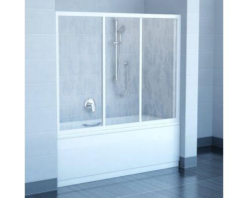 Шторка для ванны Ravak AVDP3-170 белый+транспарент
