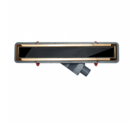 Душевой лоток Pestan Confluo Premium Black Glass Line 650 Gold , 13100097