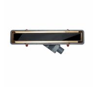 Душевой лоток Pestan Confluo Premium Black Glass Line 750 Gold , 13100098