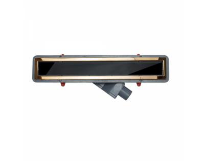 Душевой лоток Pestan Confluo Premium Black Glass Line 300 Gold , 13100094