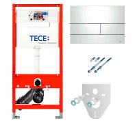 Система инсталляции для унитазов Tece Square К 300 812 4 в 1 с кнопкой смыва