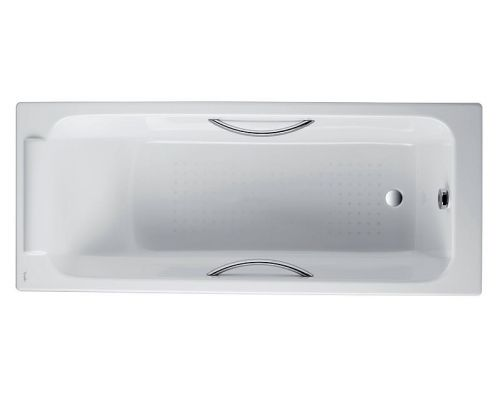 Чугунная ванна Jacob Delafon Parallel 150x70 с отверстиями для ручек, E2949