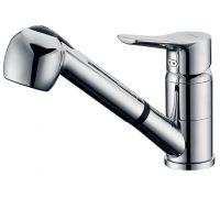 Смеситель D&K Mosel Rhein DA1262501 для кухонной мойки, с вытяжным  душем