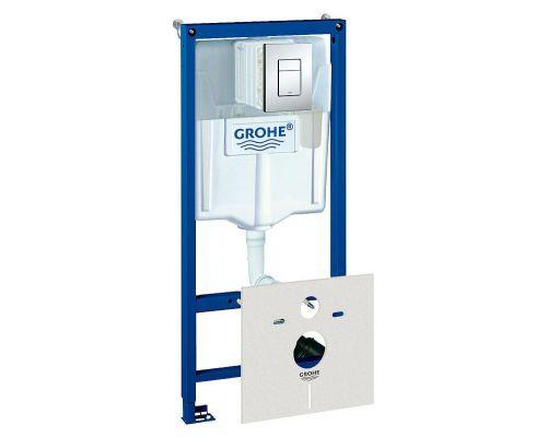 Система инсталляции для унитазов Grohe Rapid SL 38827000 5 в 1 с кнопкой смыва