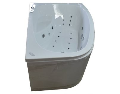 Акриловая ванна Kolpa San Chad S L с гидромассажем и экраном