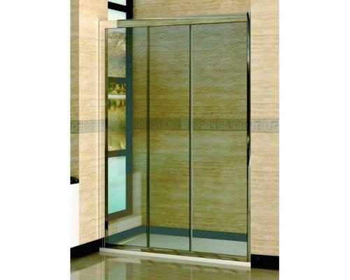 Душевая дверь в нишу RGW Classic CL-11 150х185 профиль хром, стекло шиншила