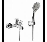 Смеситель для ванны Bravat Slim F6332366CP-01-RUS с лейкой, настенный