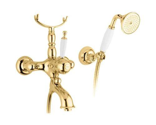 Смеситель Bugnatese Oxford 6302DO для ванны с душем, золото