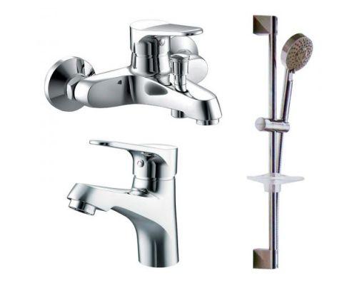 Комплект для ванной Bravat Eco F00313С 2 смесителя + душевой гарнитур