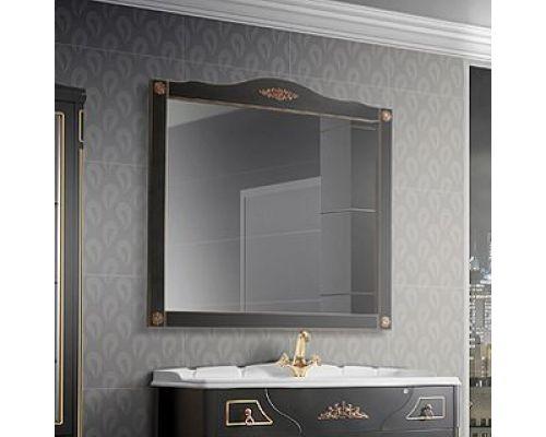 Зеркало Belux Верди 105 черное, декор Bosetti Marella