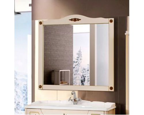 Зеркало Belux Верди 105 слоновая кость, декор Bosetti Marella