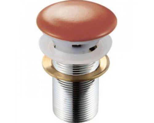 Донный клапан для раковины Melana MLN-ТB17 с отверстием под перелив, терракот