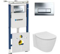 Комплект Чаша Ideal Standard Connect AquaBlade E047901 + Инсталляция Geberit 458.125.21.1