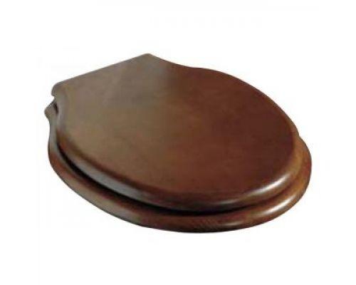 Крышка-сиденье Azzurra Giunone 1800NM/F noce/cr с микролифтом, петли хром