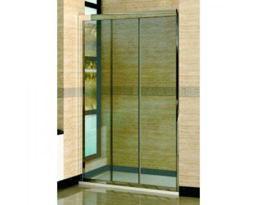 Душевая дверь в нишу RGW Classic CL-11 135х185 профиль хром, стекло шиншила