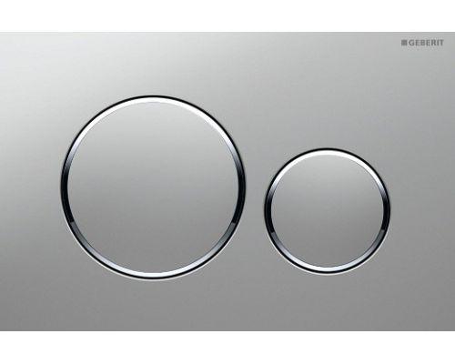 Клавиша Geberit Sigma Type 20 115.882.KN.1 рамка и кнопки: хром матовый, обод: хром глянец, двойной смыв