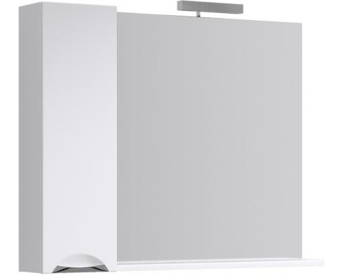 Зеркало с подсветкой и шкафчиком Aqwella Лайн 105 Li.02.10