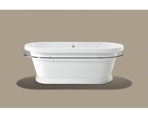 Ванна акриловая Knief Loft V 0100-067-07 185 х 83,5 х 69 см с полотенцедержателем и акриловым плинтусом