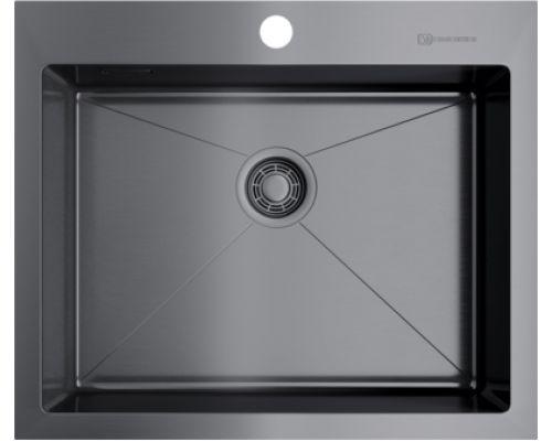 Мойка кухонная Omoikiri Akisame 59-GM 4973096 вороненая сталь
