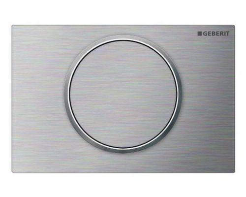 Клавиша Geberit Sigma Type 10 115.787.SN.5 для унитаза, одинарный смыв, матовая/полированная/матовая,нержавеющая сталь