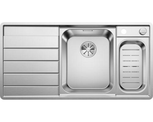 Мойка Blanco Axis III 6S-IF 522104, нержавеющая сталь, чаша справа, 100 x 51 см