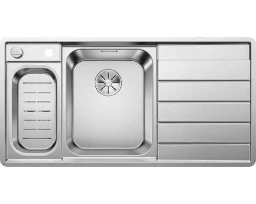 Мойка Blanco Axis III 6S-IF 522105, нержавеющая сталь, чаша слева, 100 x 51 см