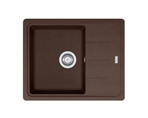 Мойка Franke BASIS BFG 611 C, 114.0280.844, гранит, установка сверху, оборачиваемая, цвет шоколад, 62*50 см