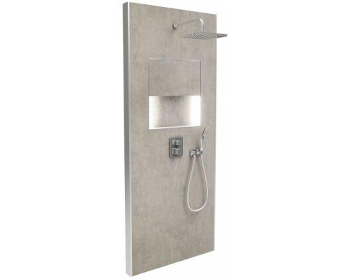 Душевая панель Jacob Delafon Ecrin E803021-D36, цвет металлический серый