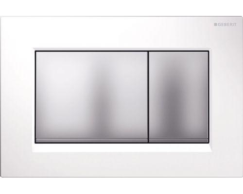 Клавиша Geberit Omega Type 30 115.080.KL.1, белая, матовый хром