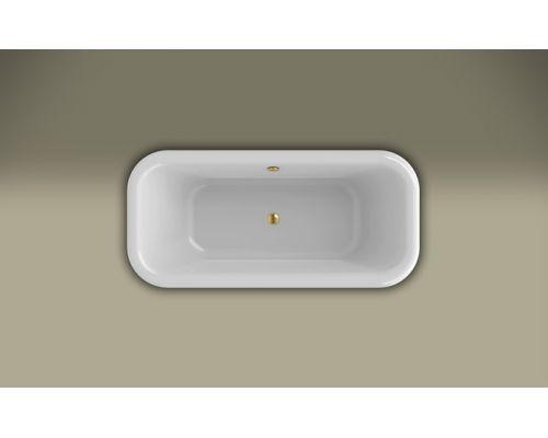Ванна акриловая Knief Retro 0100-090-14oro 180 х 85 см с акриловым плинтусом, слив в цвете золото