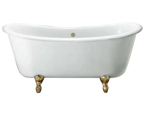 Ванна акриловая Knief Chateau 0100-073-01 180 х 80 см с 4-мя ножками лапа с когтями цвета латунь