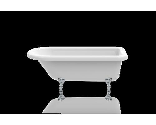 Ванна акриловая Knief ROLL TOP 0100-065-02 152,5 х 72 х 55 см на хромированных ножках
