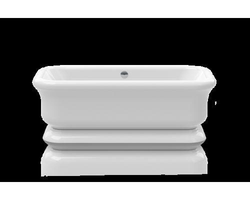 Ванна акриловая Knief Retro 0100-090-06 180 х 85 см с акриловым плинтусом, слив в цвете хром