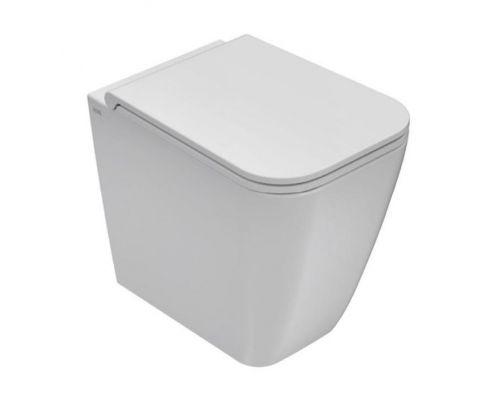 Унитаз Globo Stone ST002.BI 36*52 см приставной с системой скрытого крепежа, цвет белый