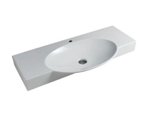 Раковина ArtCeram Swing 120 SWL003 01; 00, накладная/подвесная, 120 х 48 х 10 см
