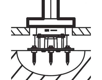База Jacob Delafon Stillness 97906D-NF для установки напольного смесителя