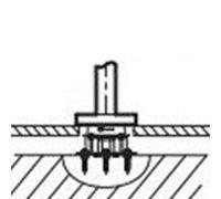 База Jacob Delafon Avid 97904D-NF для установки напольного смесителя