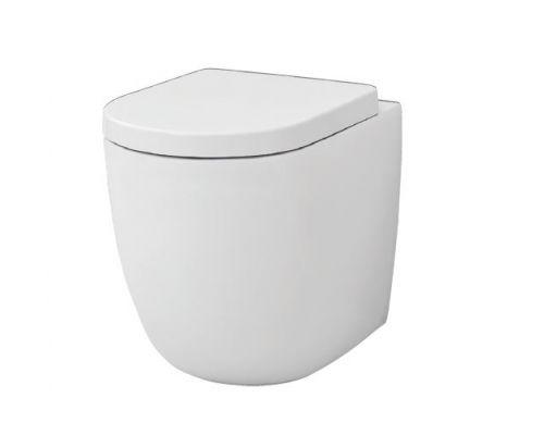 Унитаз ArtCeram File 2.0 FLV005 01; 00, приставной, безободковый, цвет - белый глянцевый