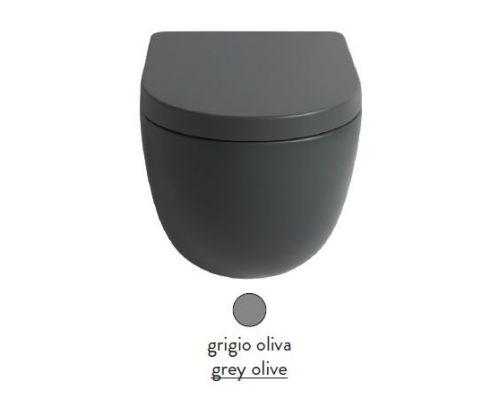 Унитаз ArtCeram File 2.0 FLV005 15; 00, приставной, безободковый, цвет - grigio olive (серая оливка)
