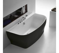 Ванна акриловая BelBagno BB74-NERO, 165 х 80 см