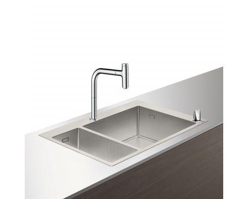 Кухонная комбинация Hansgrohe 180 x 450, C71-F655-09, смеситель под сталь
